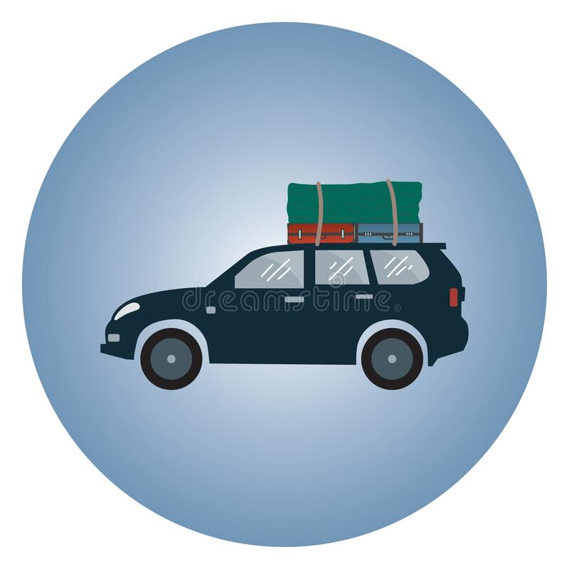 Free Car With Luggage. Vector Illustration Decorative Design Stock Images - 189656884