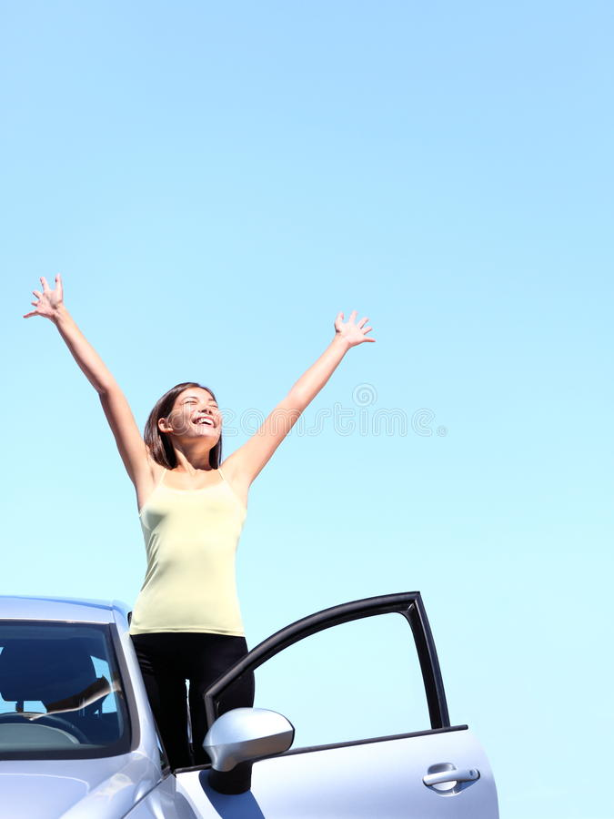 Download Car woman happy freedom stock image. Image of chinese - 23333945
