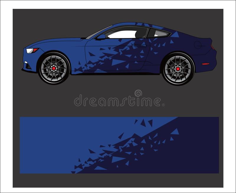 Car wrap decal. Abstract strip for racing car wrap, sticker, and decal. stock illustration