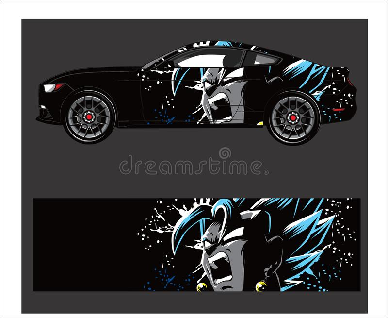 Car wrap decal. Abstract strip for racing car wrap, sticker, and decal. Car wrap. Abstract strip for racing car wrap, sticker, and decal stock illustration