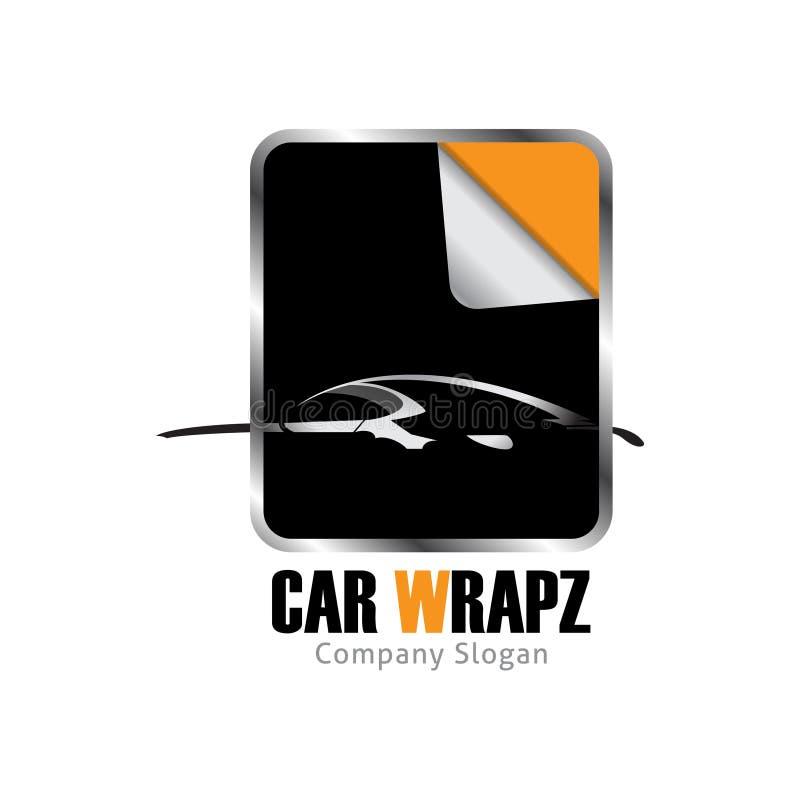 Car wrap logo design for beautiful car royalty free illustration
