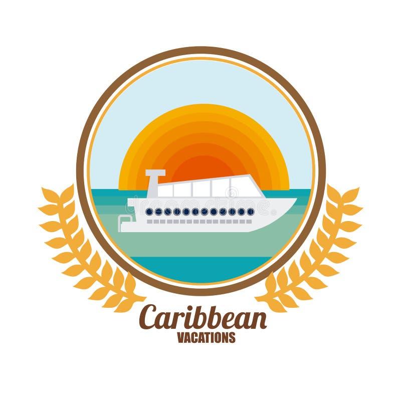 Caraïbisch Cruiseontwerp vector illustratie