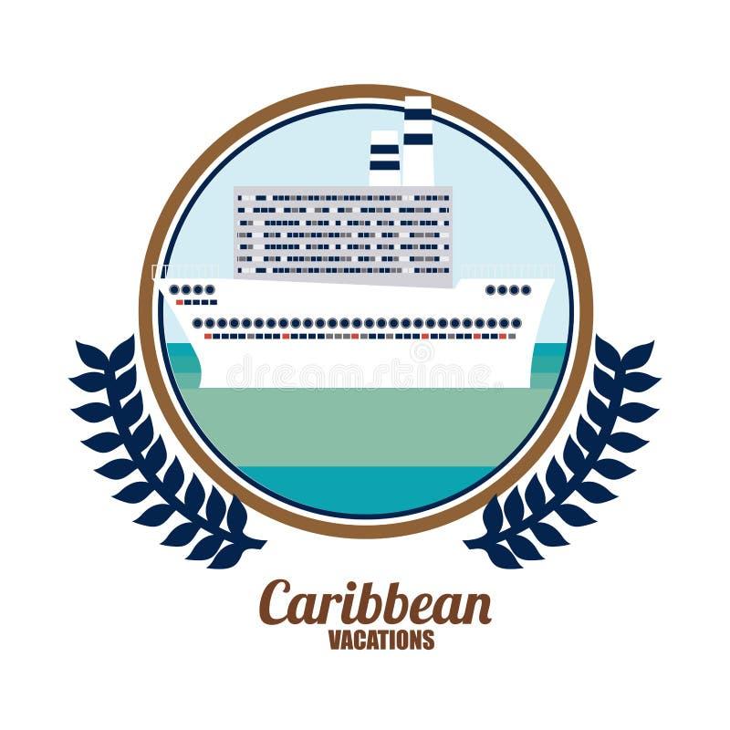Caraïbisch Cruiseontwerp royalty-vrije illustratie