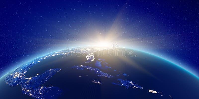 Caraïbisch eilandenverlichting stock illustratie