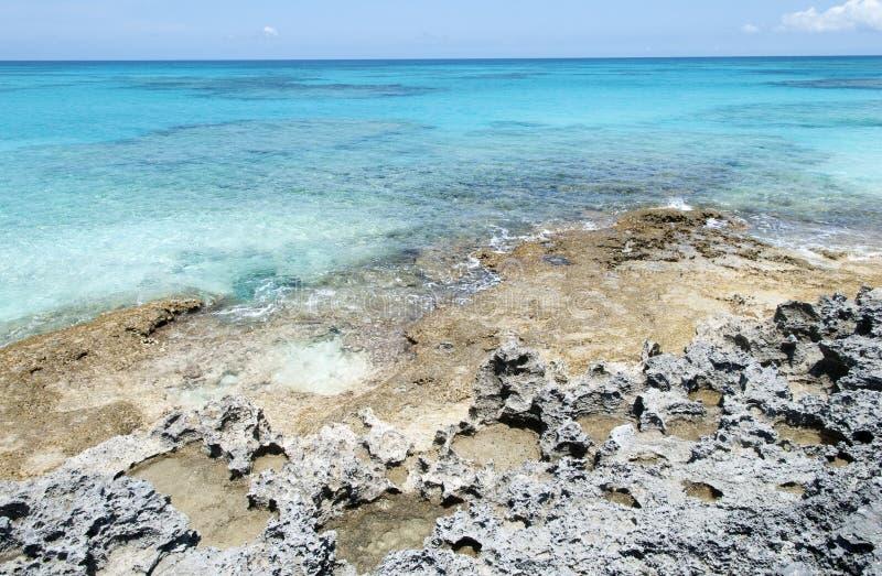 Caraïbisch Rocky Beach royalty-vrije stock afbeelding