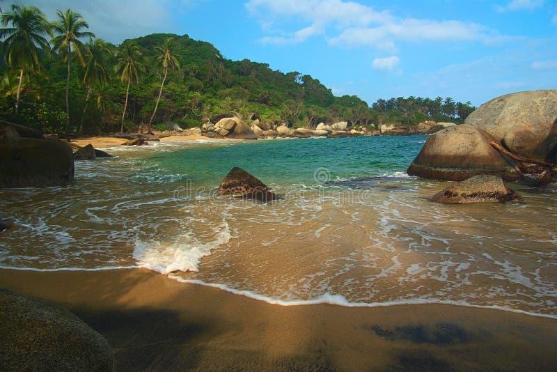 Caraïbisch Strand in Colombia royalty-vrije stock foto's