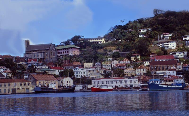 Caraïbische Eilanden: St Georges, het kapitaal van het Eiland van Grenada in de Antillen royalty-vrije stock foto's