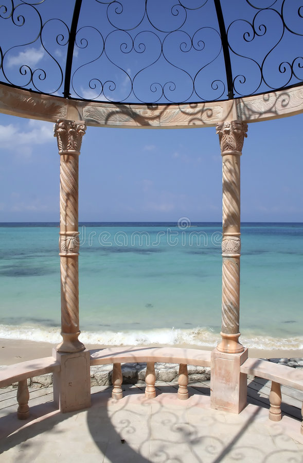 Caraïbische Gazebo stock afbeeldingen