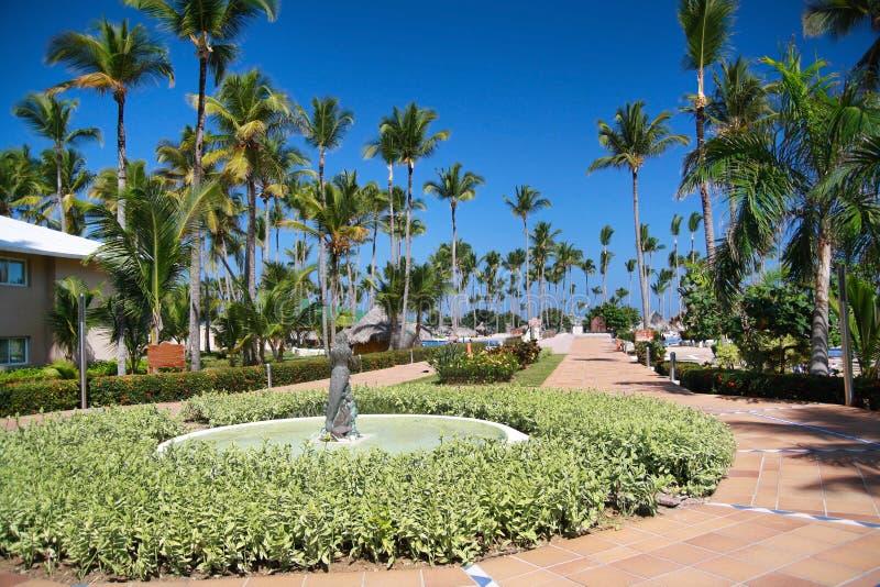 Caraïbische het hoteltoevlucht van de luxe stock afbeelding