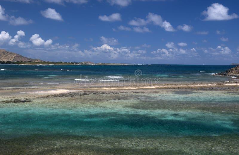 Caraïbische kust van Heilige Martin, royalty-vrije stock afbeelding