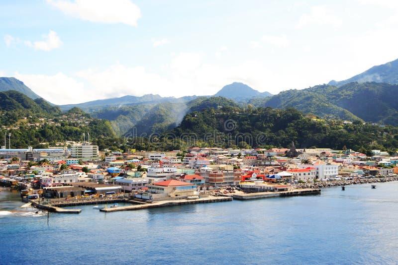 Caraïbische Stad stock afbeelding