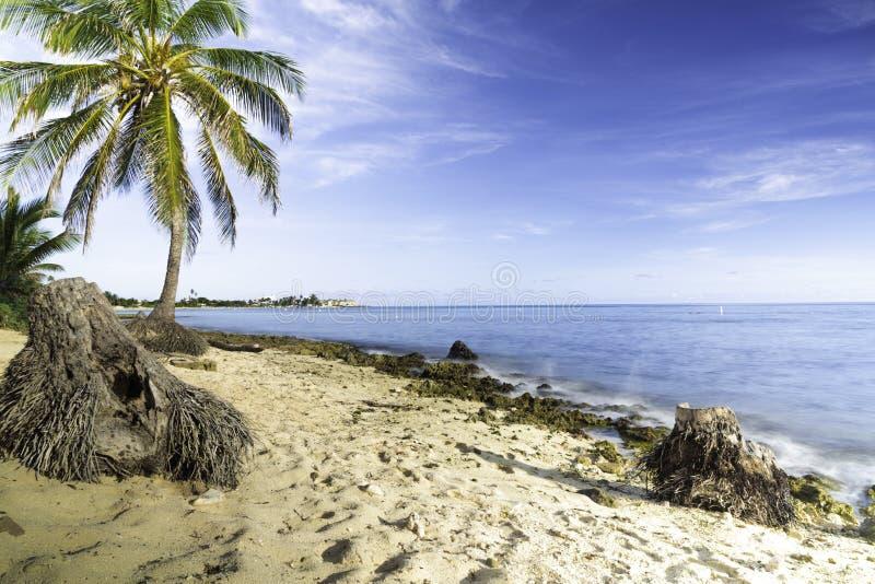 Caraïbische strand lange blootstelling royalty-vrije stock foto's