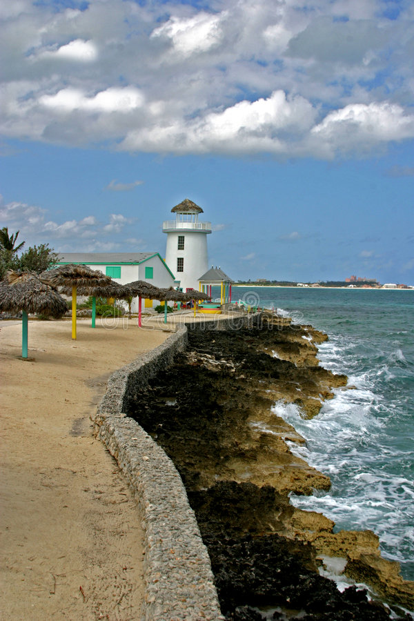 Caraïbische vuurtoren stock afbeelding