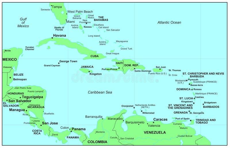 Caraïbische Zee royalty-vrije illustratie