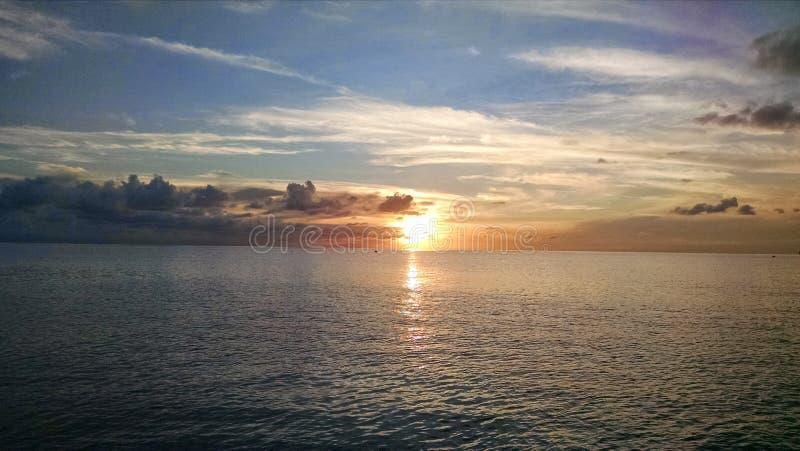 Caraïbische Zonsondergang stock foto