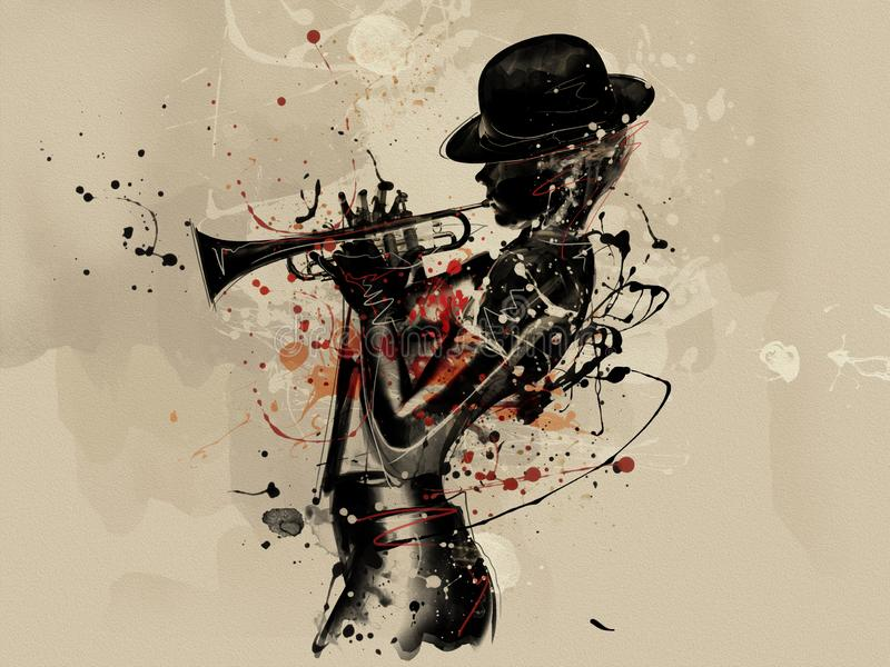 Cara abstracta de la mujer Moda del Grunge ilustración del vector