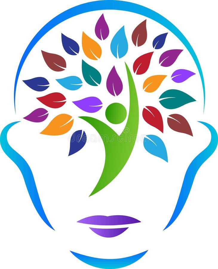 Cara abstracta del árbol ilustración del vector