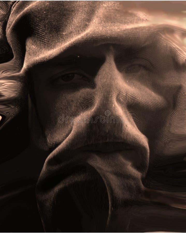 Cara abstracta del paño foto de archivo
