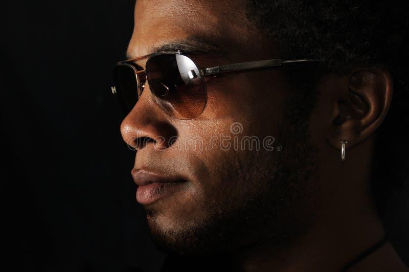 Cara africana del hombre imagen de archivo libre de regalías