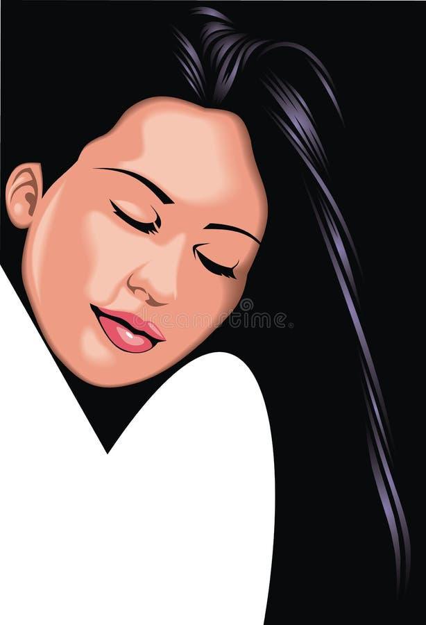 Cara agradable de la muchacha (mujer) de mi fantasía libre illustration