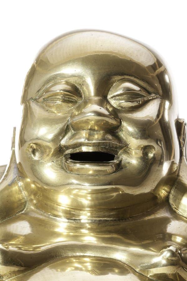 Cara agradavelmente de riso da monge budista fotos de stock royalty free