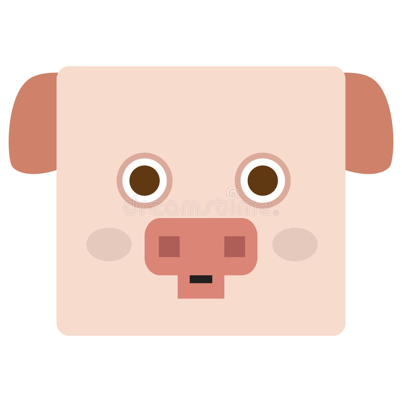 Cara aislada del cerdo libre illustration
