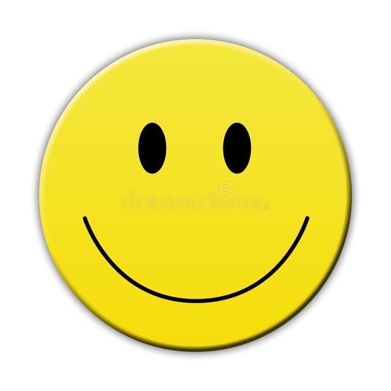 Cara amarela feliz do sorriso ilustração stock