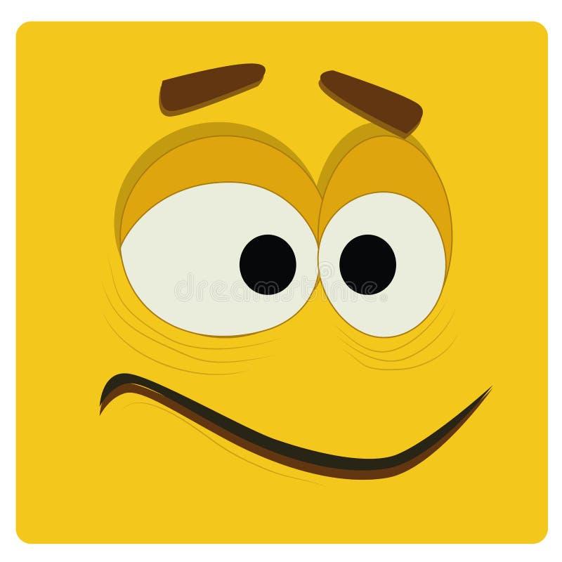 Cara amarilla ilustración del vector
