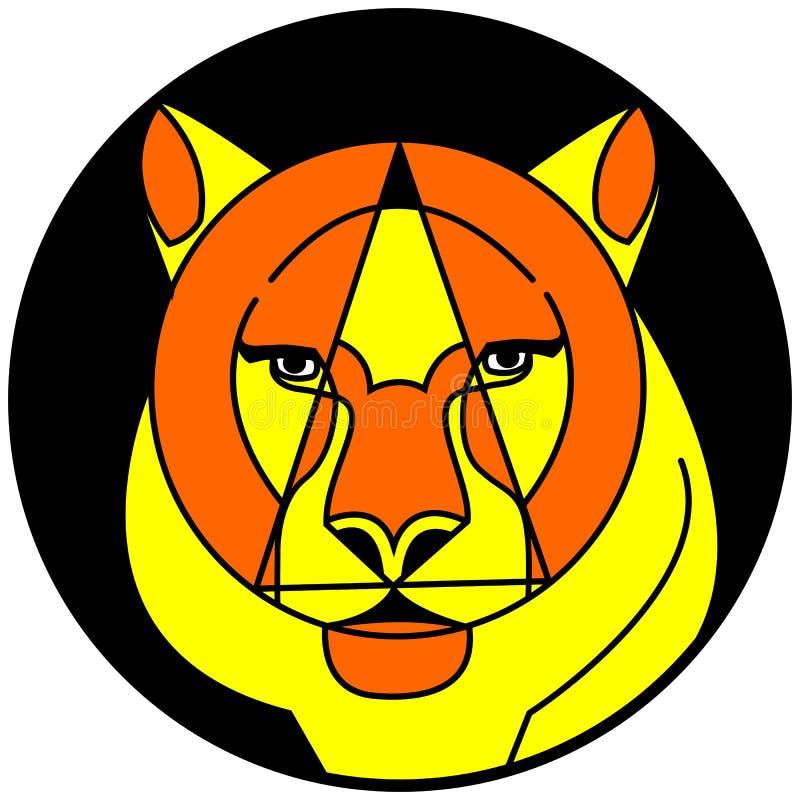Cara artística do tigre ilustração stock
