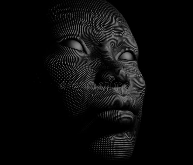 Cara artificial ilustración del vector