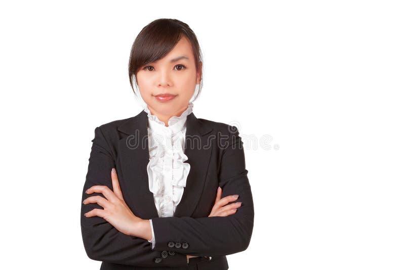 Cara asiática do sorriso da mulher imagem de stock royalty free