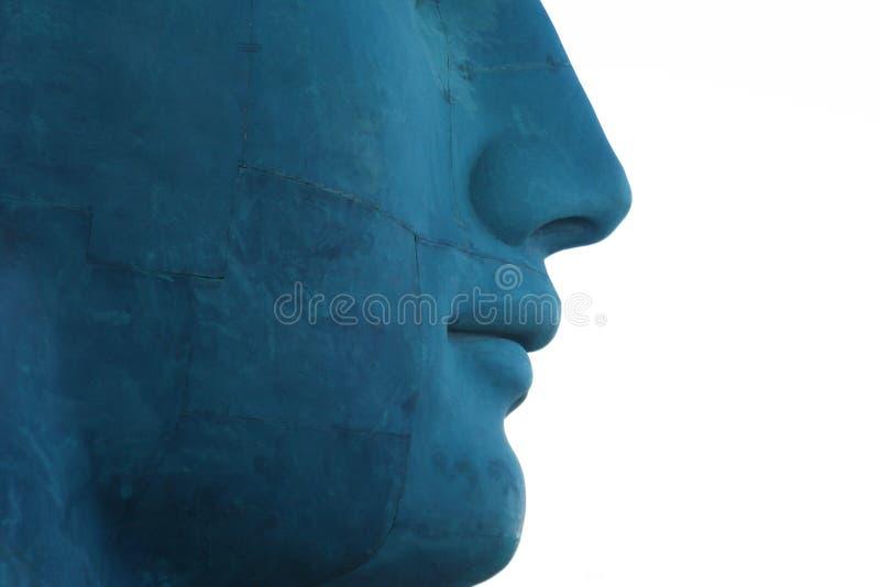 Cara azul fotos de archivo libres de regalías