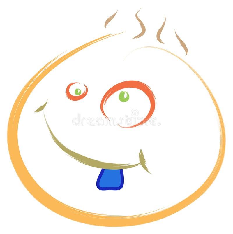 Cara azul do dente ilustração do vetor