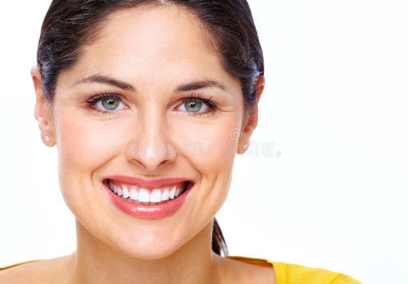 Cara bonita da jovem mulher. fotografia de stock