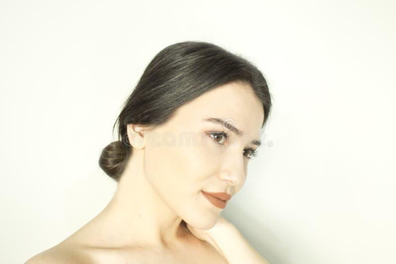 Cara bonita da mulher - ascendente próximo imagem de stock royalty free