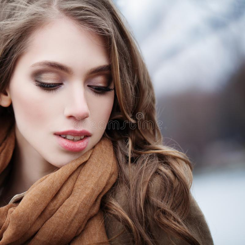 Cara bonita do modelo de forma Mulher nova 15 imagem de stock royalty free