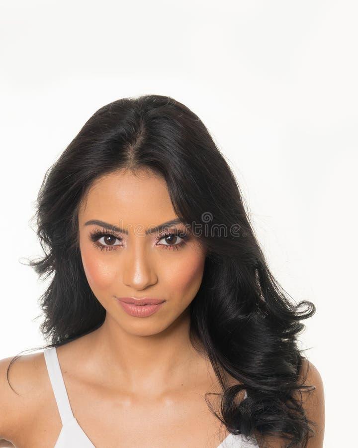 Cara bonita do ` s da jovem mulher imagens de stock