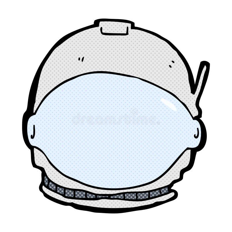 cara cómica del astronauta de la historieta stock de ilustración