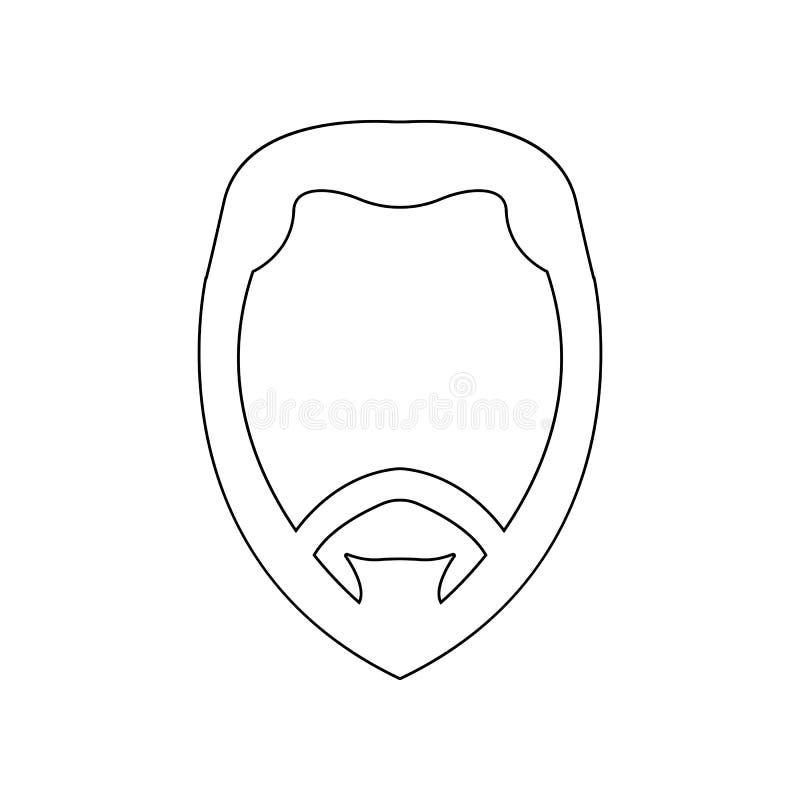 cara con el icono de la barba Elemento del peluquero para el concepto y el icono m?viles de los apps de la web Esquema, l?nea fin stock de ilustración
