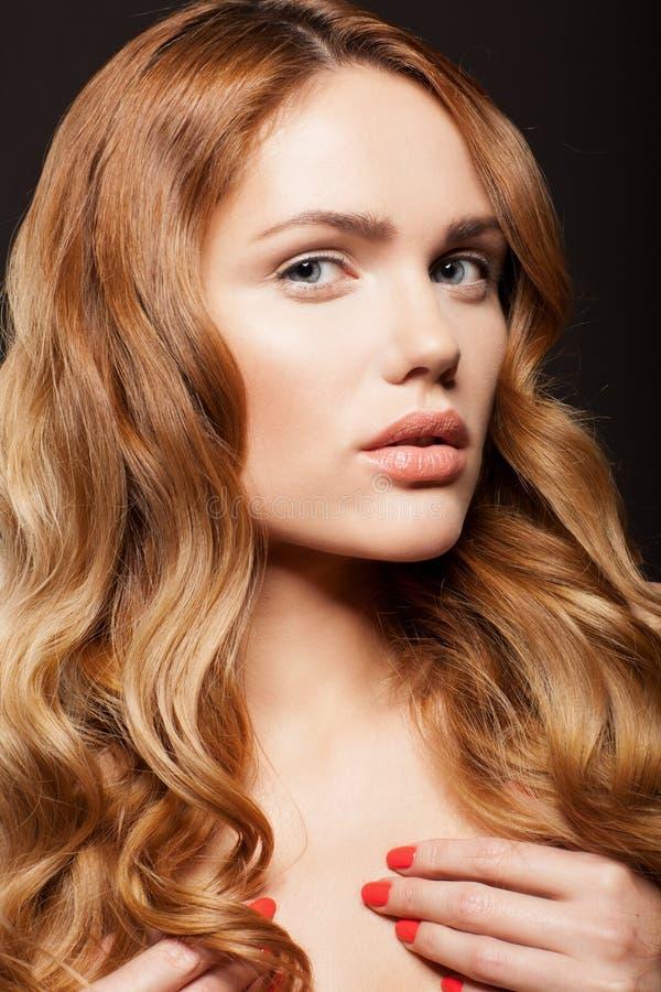 Cara da beleza da mulher bonita imagens de stock