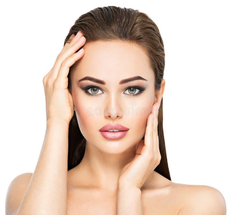 Cara da beleza da mulher bonita nova fotos de stock royalty free