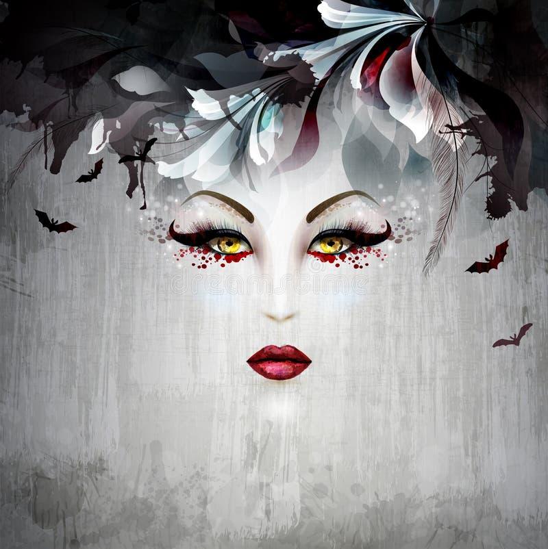 Cara da bruxa ilustração royalty free