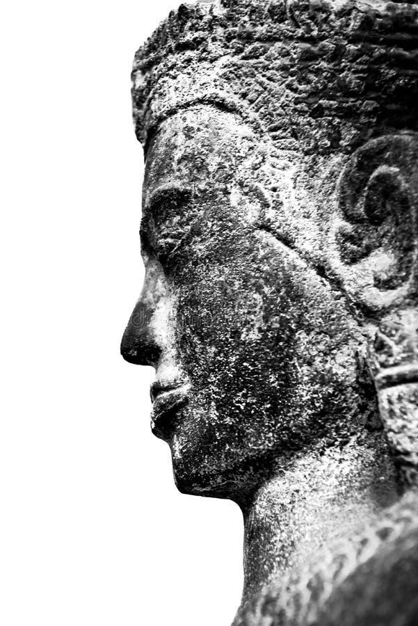 A cara da Buda antiga fotografia de stock