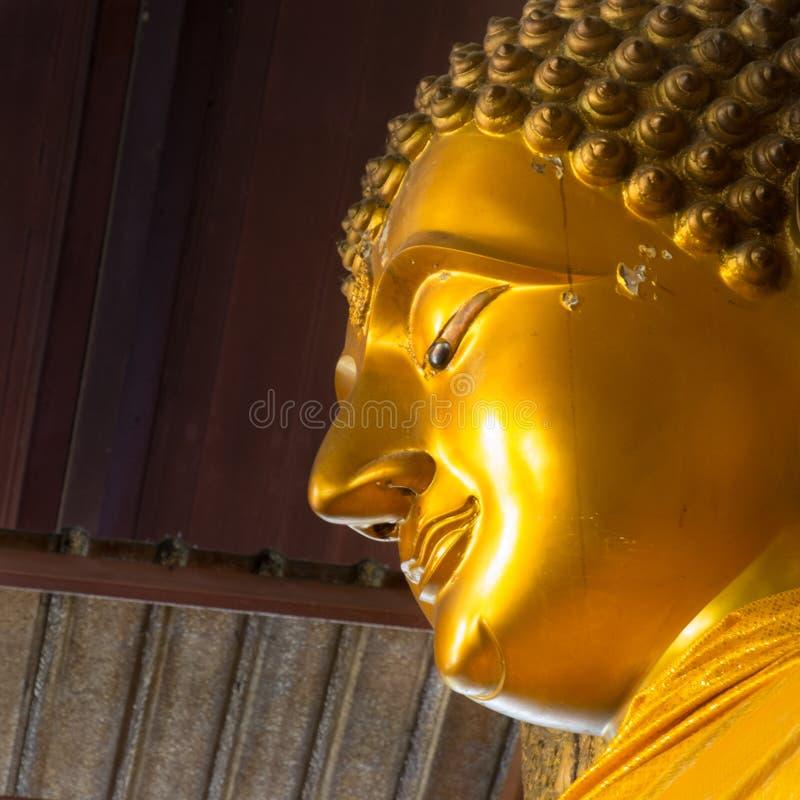 Cara da Buda do ouro imagens de stock royalty free