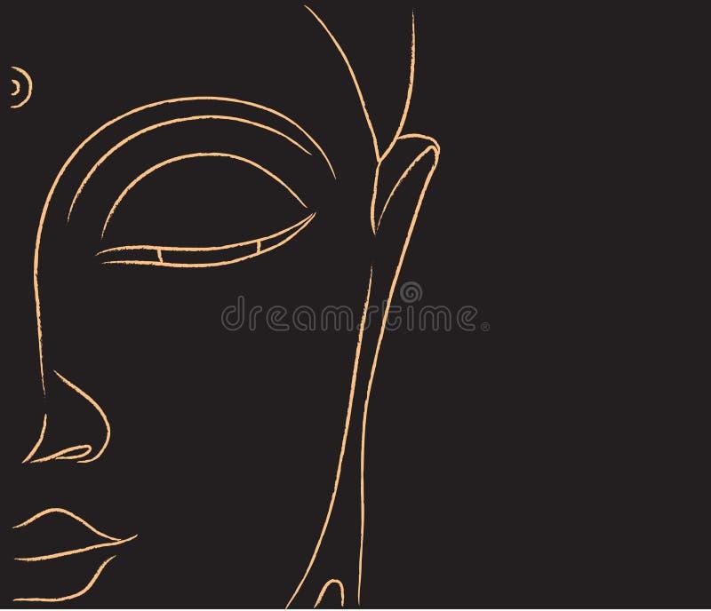Cara da Buda Ilustração ilustração royalty free