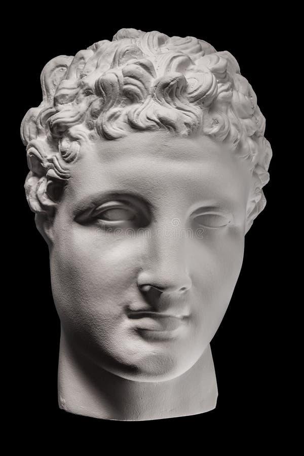 Cara da estátua da gipsita de Apollo fotografia de stock royalty free