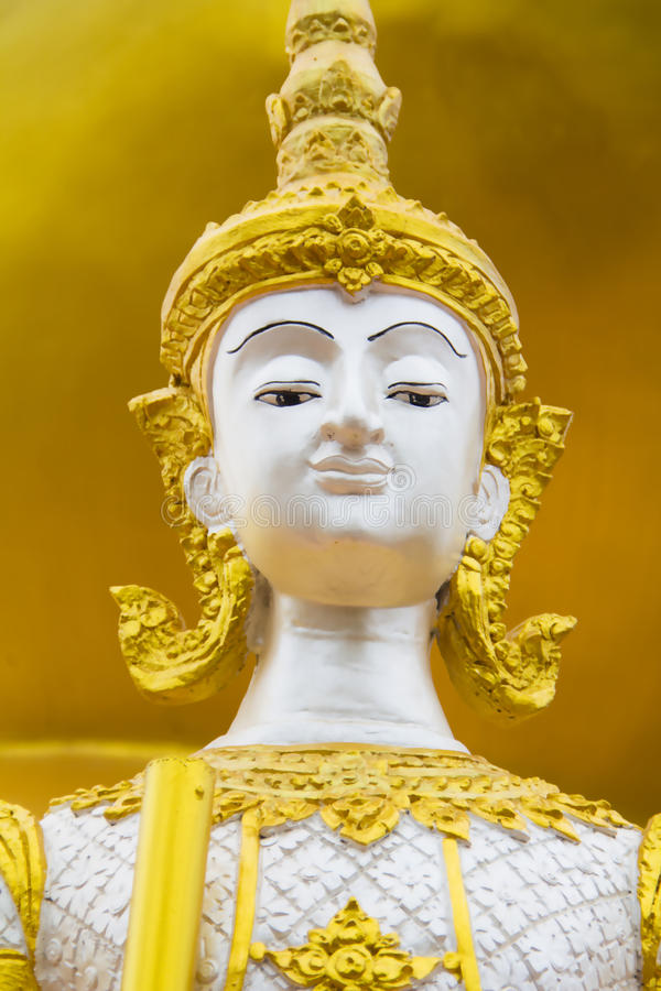 Cara da estátua do ângulo fotos de stock