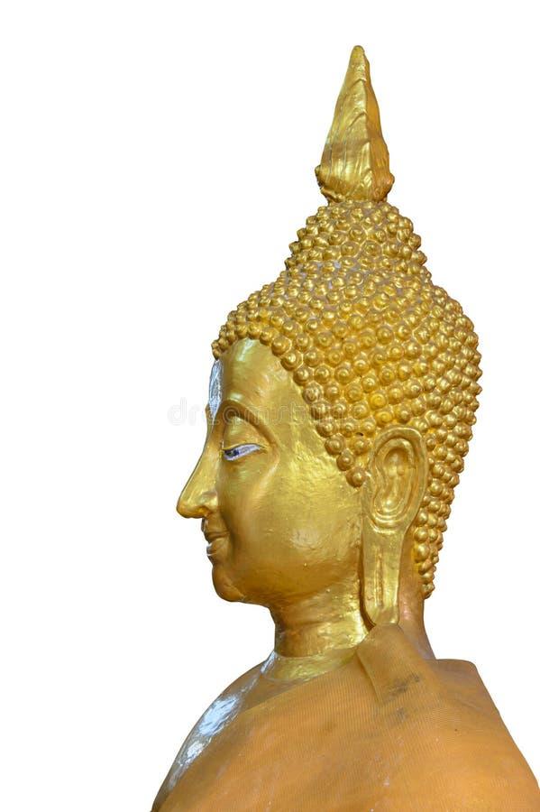 Cara da imagem dourada da Buda fotografia de stock royalty free