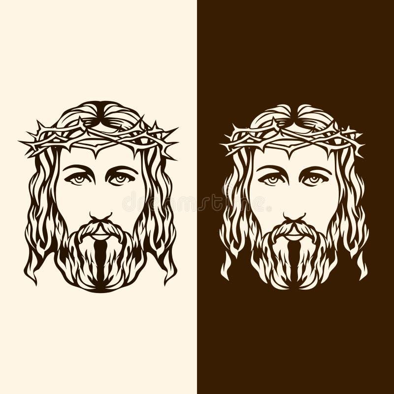 Cara da mão de Jesus tirada ilustração royalty free