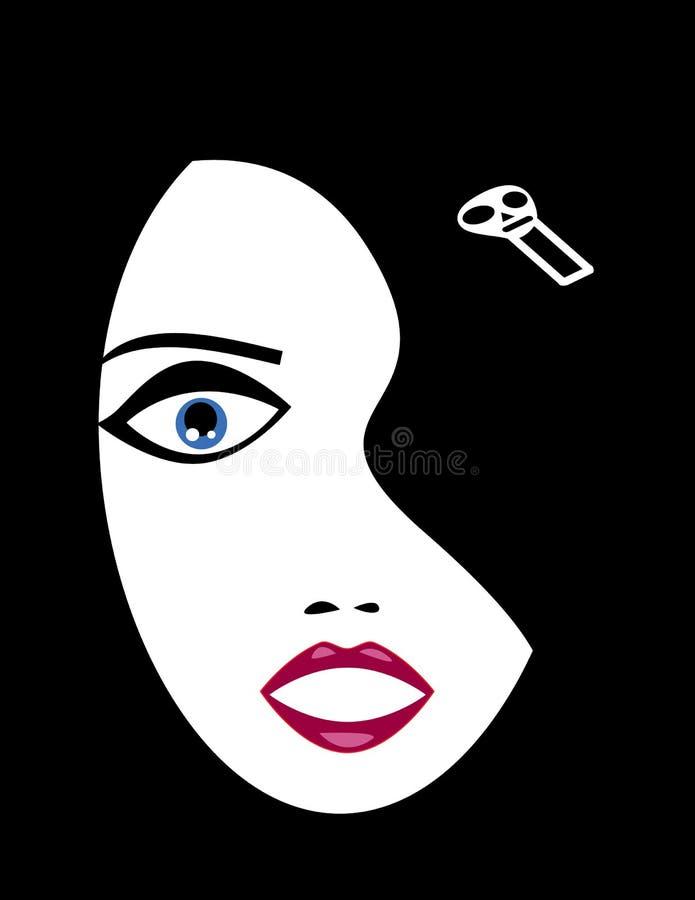 Cara da menina de Goth ilustração royalty free